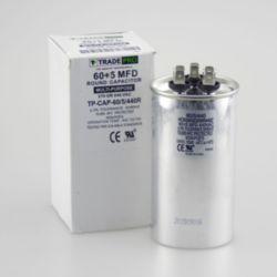 TRADEPRO® - TP-CAP-60/5/440R  60+5 MFD 440 Volt Round Run Capacitor