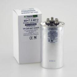 TRADEPRO® - TP-CAP-60/7.5/440R  60+7.5 MFD 440 Volt Round Run Capacitor
