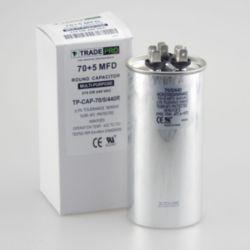 TRADEPRO® - TP-CAP-70/5/440R  70+5 MFD 440 Volt Round Run Capacitor