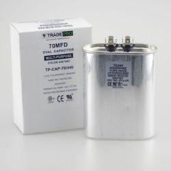 TRADEPRO® - TP-CAP-70/440  70 MFD 440 Volt Oval Run Capacitor