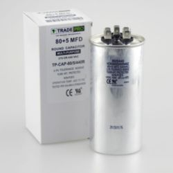 TRADEPRO® - TP-CAP-80/5/440R  80+5 MFD 440 Volt Round Run Capacitor