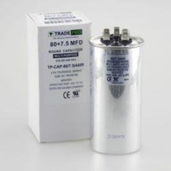 TRADEPRO® - TP-CAP-80/7.5/440R  80+7.5 MFD 440 Volt Round Run Capacitor