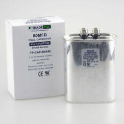 TRADEPRO® - TP-CAP-80/440  80 MFD 440 Volt Oval Run Capacitor