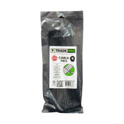 "TRADEPRO® - TP-CABLETIE11B 11"" 50 lb. UV Black Cable Ties"