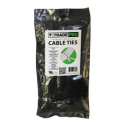 "TRADEPRO® - TP-CABLETIE7B  7"" 50 lb. UV Black Cable Ties"