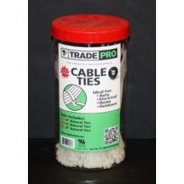 TradePro® - TP-CABLETIETUBE600N  Cable tie assortment tube - natural - Package of 600