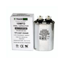 TRADEPRO® - TP-CAP-10/440  10 MFD 440 Volt Oval Run Capacitor