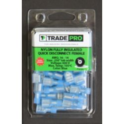TRADEPRO® - TP-TERM-BQDFFI250 Fully Insulated Quick Disconnect: Female