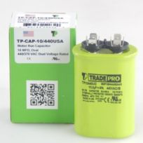 TradePro - TP-CAP-10/440USA  10 MFD 440V Oval Capacitor