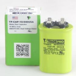 TRADEPRO® - TP-CAP-10/440USA  10 MFD 440/370V Oval Capacitor (Made in USA)