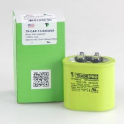 TRADEPRO® - TP-CAP-15/440USA  15 MFD 440V Oval Capacitor (Made in USA)