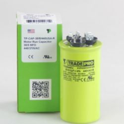 TRADEPRO® - TP-CAP-30/5/440USA-R  30/5MFD 440/370V Round Capacitor (Made in USA)