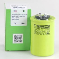 TRADEPRO® - TP-CAP-40/7.5/440USA-R  40/7.5 MFD 440V Round Capacitor (Made in USA)