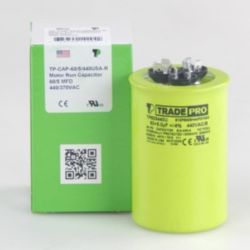 TRADEPRO® - TP-CAP-60/5/440USA-R  60/5MFD 44OV Round Capacitor (Made in USA)