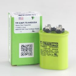 TRADEPRO® - TP-CAP-7.5/440USA  7.5 MFD 440V Oval Capacitor (Made in USA)