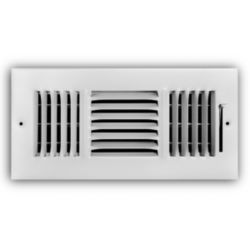"Truaire - 12"" x 08"" 3 Way Wall/Ceiling Register."
