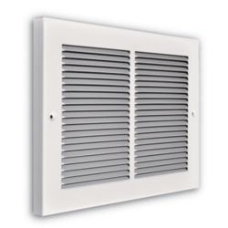 "Truaire - 14"" x 08"" 1/3"" Fin Spaced Baseboard Return Grille 3/4"" Back"
