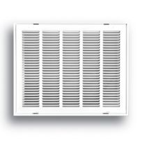 """24""""X18"""" White Return Air Filter Grille With Hinged Face"""
