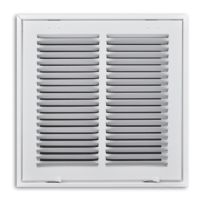 "24""X24"" White Return Air Filter Grille With Hinged Face"