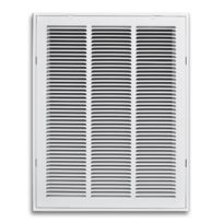 "24""X30"" White Return Air Filter Grille With Hinged Face"