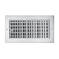 "TRUaire A210VM 12X06 12"" x 6"" White Aluminum Adjustable 1 Way Wall/Ceiling Register"