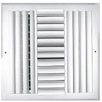 "TRUaire A301HM 12X12 12"" x 12"" 4 Way Aluminum Adjustable Wall/Ceiling Register"