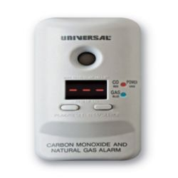 Universal Security Instruments MCND401B Plug-In Carbon Monoxide & Natural Gas Alarm with Battery Backup