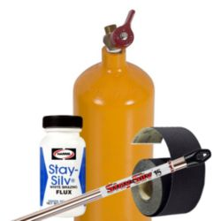 Acetylene Contents, Abrasive Cloth, Solder & Flux