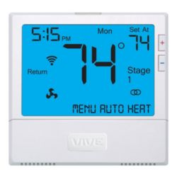 Thermostat, WiFi enabled, 4H/2C