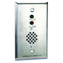 Remote Alarm with Pilot & Horn for Single Gang Box