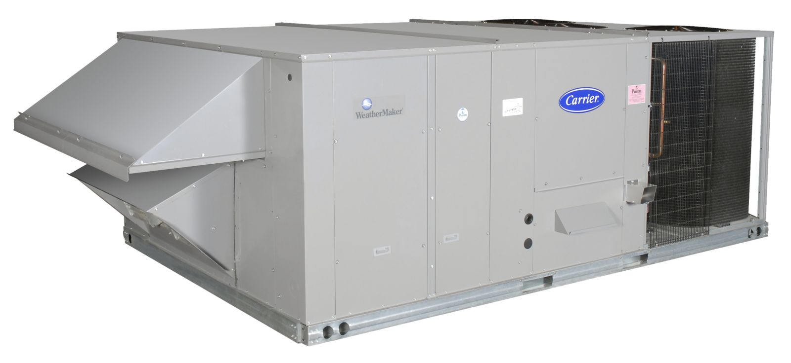 Carrier Weathermaker 175 Ton Packaged Rooftop Gas Heat Heating Ac Wiring To Strips Electric Cool Unit Vert Air Flowmed Heat2 Stg208 230 3 60