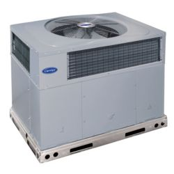 Carrier® Comfort™  - 3.5 Ton 14 SEER Residential Packaged Heat Pump System (Tin-Plated Indoor Coil)
