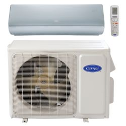 "Carrier® Infinity 1 Ton Mini Split High Wall Heat Pump System, Silver (1/4""-1/2"" line set) R-410a 208-230 VAC"