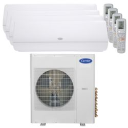 Carrier® Infinity 3 Ton 4 Zone Mini Split High Wall Heat Pump System R-410a 208-230V