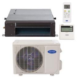 "Carrier® Performance 1 Ton Mini Split Ceiling Ducted Heat Pump System (1/4""-1/2"" line set) R-410a 208-230 VAC"