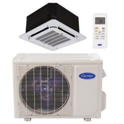 """Carrier® Performance 1 1/2 Ton Mini Split Ceiling Cassettte Heat Pump System (1/4""""-1/2"""" line set) R-410a 208-230 VAC"""
