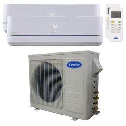 Carrier® Performance 1 1/2  Ton 2 Zone Mini Split High Wall Heat Pump System R-410a 208-230 VAC