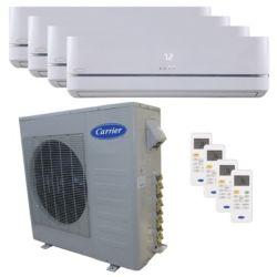 Carrier® Performance 3  Ton 4 Zone Mini Split High Wall Heat Pump System R-410a 208-230 VAC