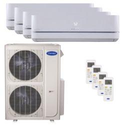 Carrier® Performance 4  Ton 4 Zone Mini Split High Wall Heat Pump System R-410a 208-230 VAC
