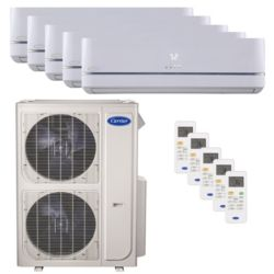 Carrier® Performance 4 Ton 5 Zone Mini Split High Wall Heat Pump System R-410a 208-230 VAC