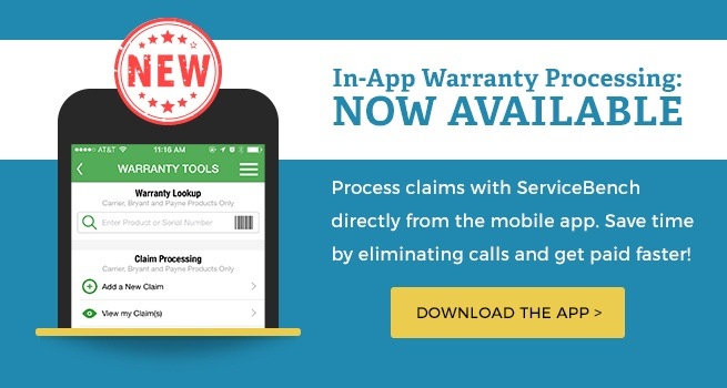 Now Process Warranty In App