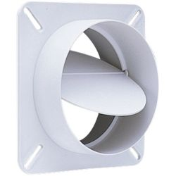 "deflecto® - BD04  4"" Diameter Plastic Dryer Vent Draft Blocker"