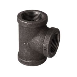 "DiversiTech® - BPF-18  Black Malleable Iron Fitting,  1"" Tee"