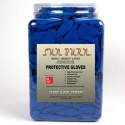 Grease Grip USA - G05326 - Sunburn - Dark Blue - Latex Gloves - XLarge (50 Pcs)