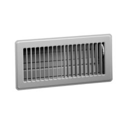 "Hart & Cooley - 703945 M Series 4"" x 12"" Brown Steel Floor Diffuser"