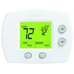 Honeywell - TH5110D1022 Large Display Non-Programmable Digital Thermostat For Low-Voltage Conventional And Heat Pump