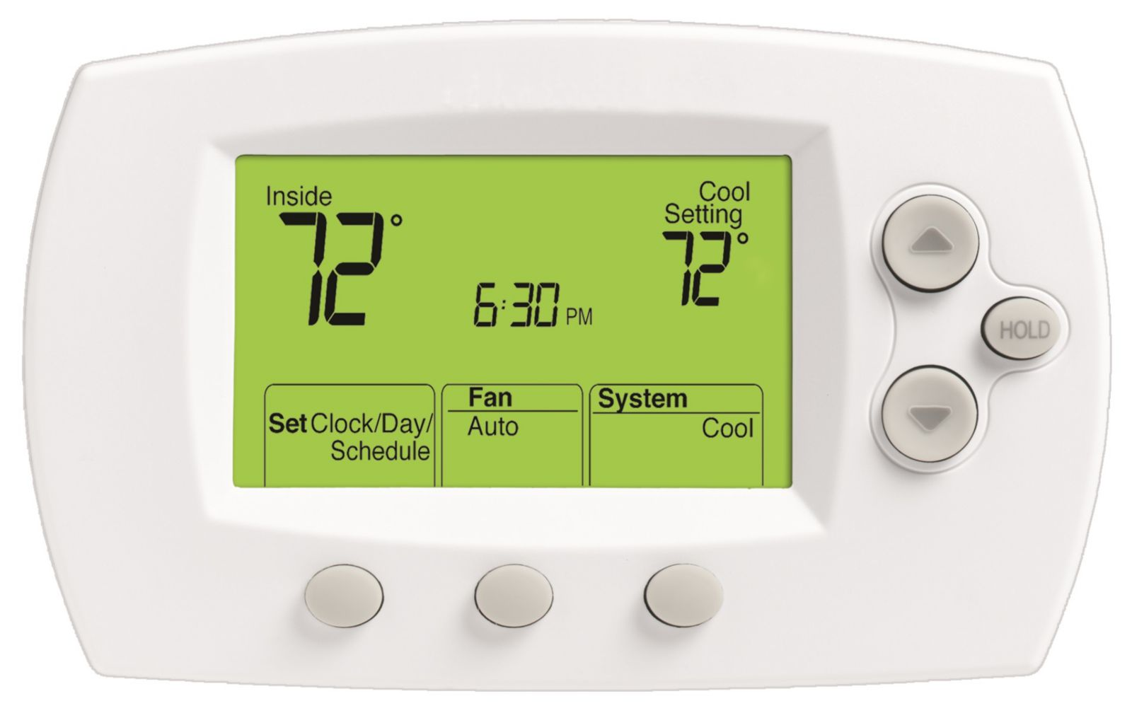 Honeywell - TH6110D1005 Conventional And Heat Pump Programmable Thermostat  1H/1C