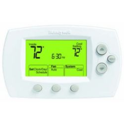 Honeywell - TH6110D1021/U FocusPRO 6000 Large-Size Display Programmable Thermostat for 1H/1C