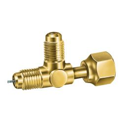 """Jb Industries - A31851 - 1/4"""" FE SAE swivel tee access valve with depressor, nut on run. Package of 3."""