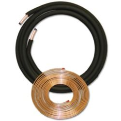 "JMF - 3/8"" x 7/8"" x 1/2"" x 50' Plain End Straight End Line Set"